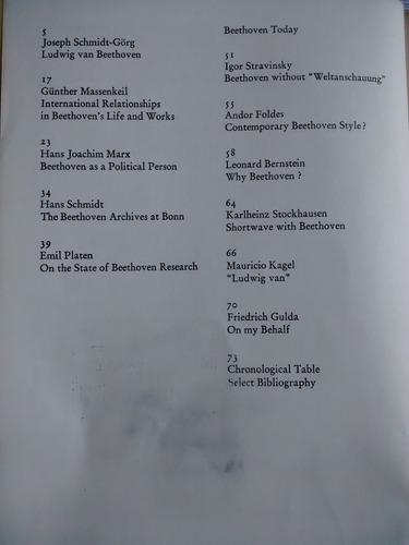 ludwig van beethoven. 1770-1970. inter nationes - en ingles