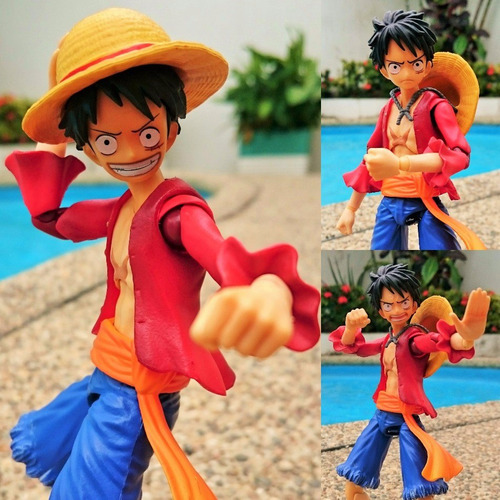 luffy megahouse one piece articulable 18cm / 100% nueva