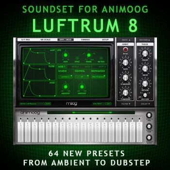 luftrum 8 - 64 ambients dubstep presets p/ animoog