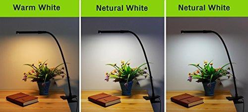lufun led clip en luz / luz de lectura / luz de libro para e