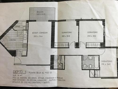 lugano cafayate 5000/ depto 3 ambientes / balcon/ 76m2
