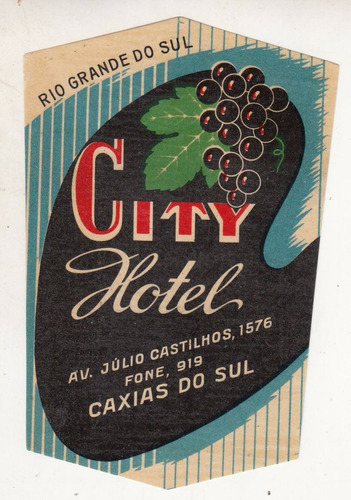 luggage antiguo sticker city hotel caxias do sul brasil raro