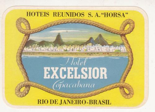luggage antiguo sticker hotel excelsior rio janeiro brasil