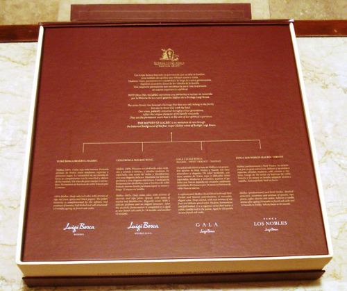 luigi bosca cofre de lujo dedicado al malbec 38x37x10 cm