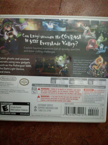 luigi's mansion dark moon para nintendo 3 ds