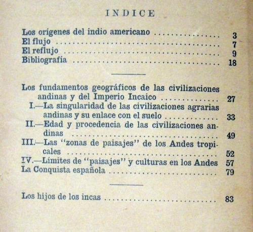 luis baudin los orígenes del indio americano 1937 no envio
