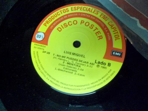 luis miguel  ep de 7 eidcion disco poster 4 tracks sin poste