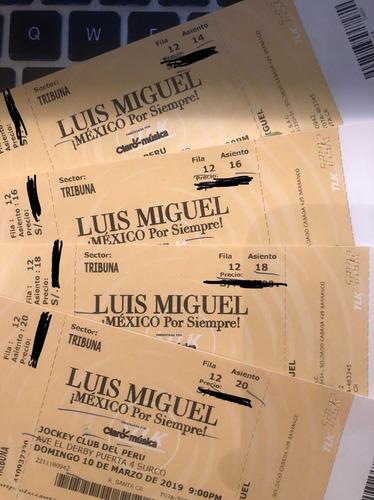 luis miguel (lima) entradas tribuna central 300