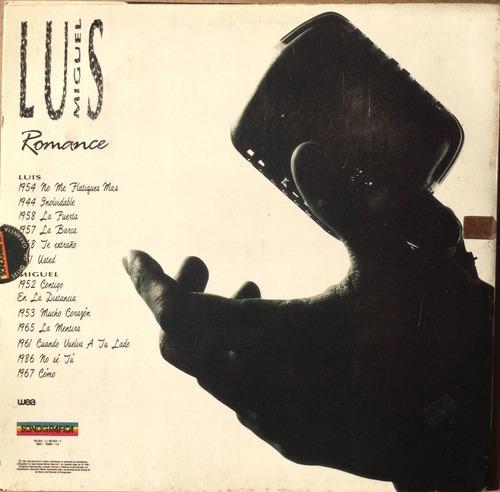 luis miguel. romance 1. 1991. disco vinilo.