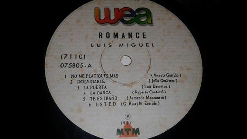 luis miguel  romance  boleros   lp  vinilo acetato disco
