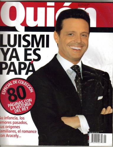 luis miguel.en portada de revista quien especial-2006 $120.0