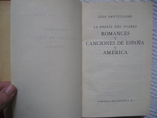 luis santullano - romances y canciones de españa y américa