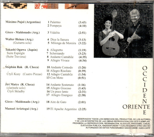 luis slaby / gilda costanzo - oriente occidente