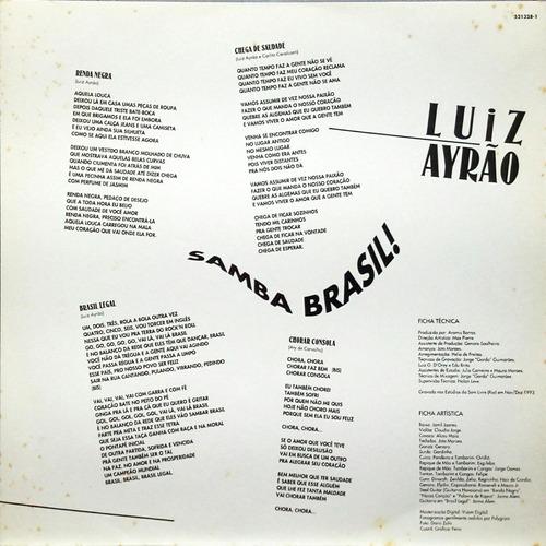 luiz ayrão lp 1993 samba brasil + encarte 14057