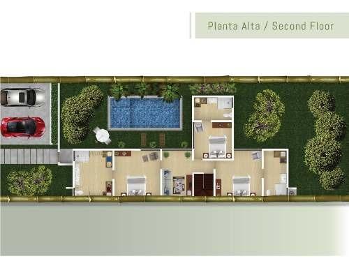 lujo y calidad casa con alberca, 3 recámaras playa del carmen p1927