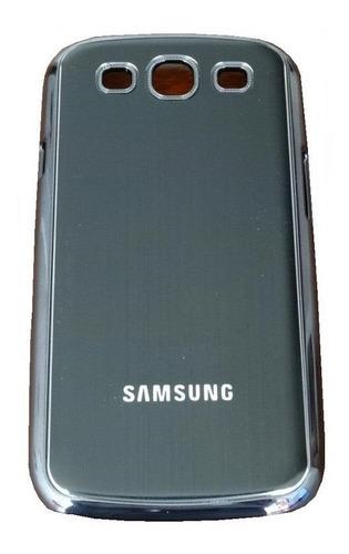 lujosa carcasa aluminio samsung galaxy i9300 s3 siii negro