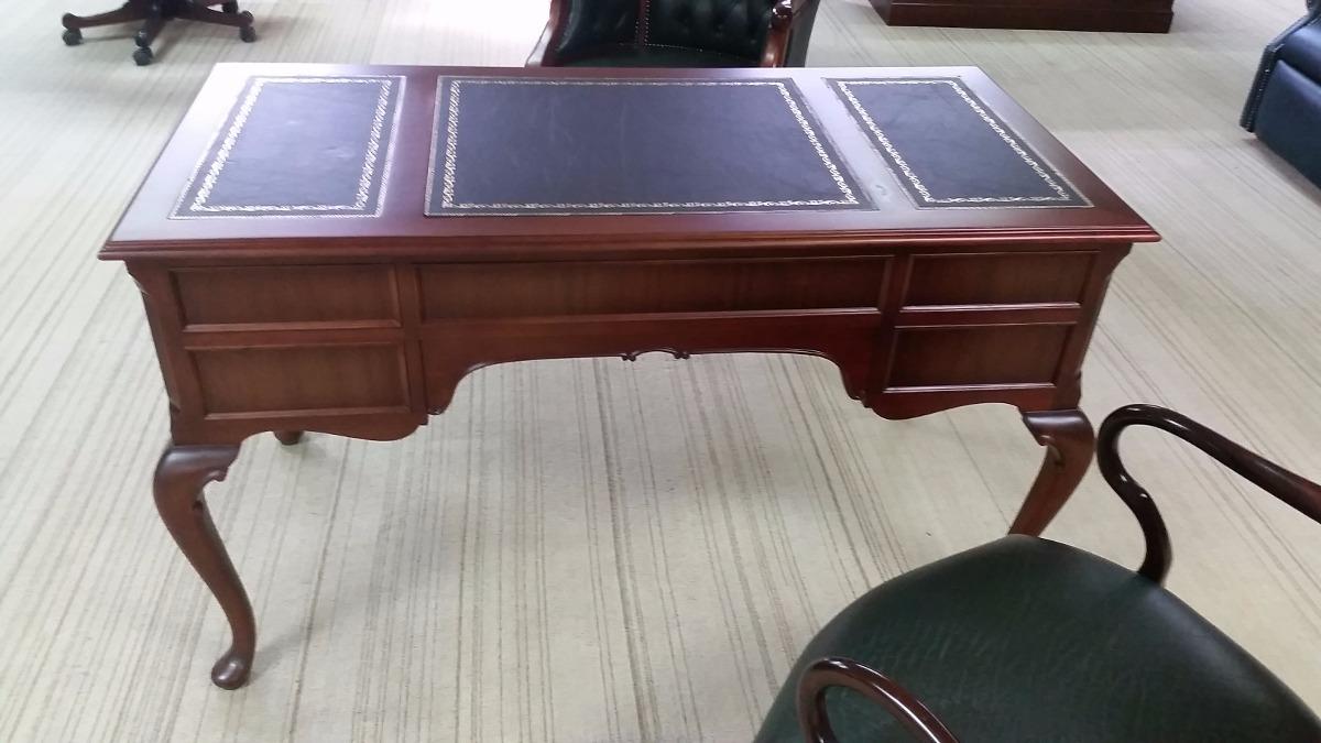 Lujosa mesa escritorio ingles reina ana oficina biblioteca for Mesa biblioteca