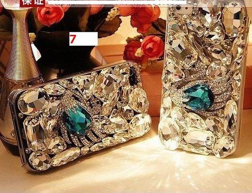 lujosas carcasas cubierta pedreria completa iphone