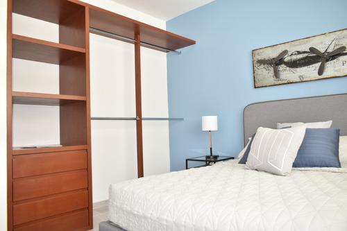 lujoso departamento de   3 habitaciones en privada  alberca