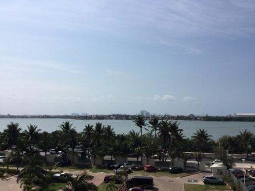 lujoso departamento en renta en bay view grand, cancún
