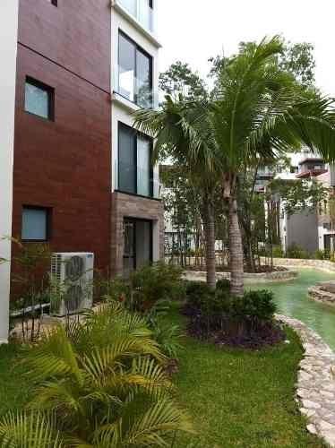 lujoso departamento en renta jardines de mayakoba playa del carmen   p3019