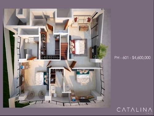 lujoso departamento penthouse en montebello catalina tower