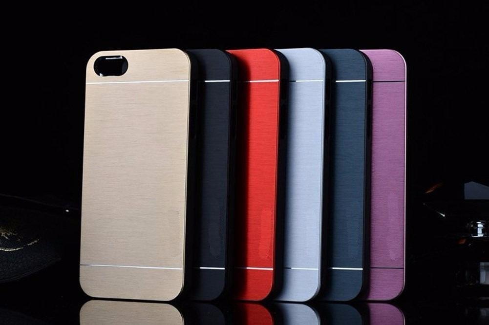 cd0c4fb1caf lujoso forro estuche iphone 4/4s/5/5s, aluminio+goma motomo. Cargando zoom.
