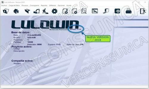 lulowin ng2018 personalizable bdd del mes bs. s actual