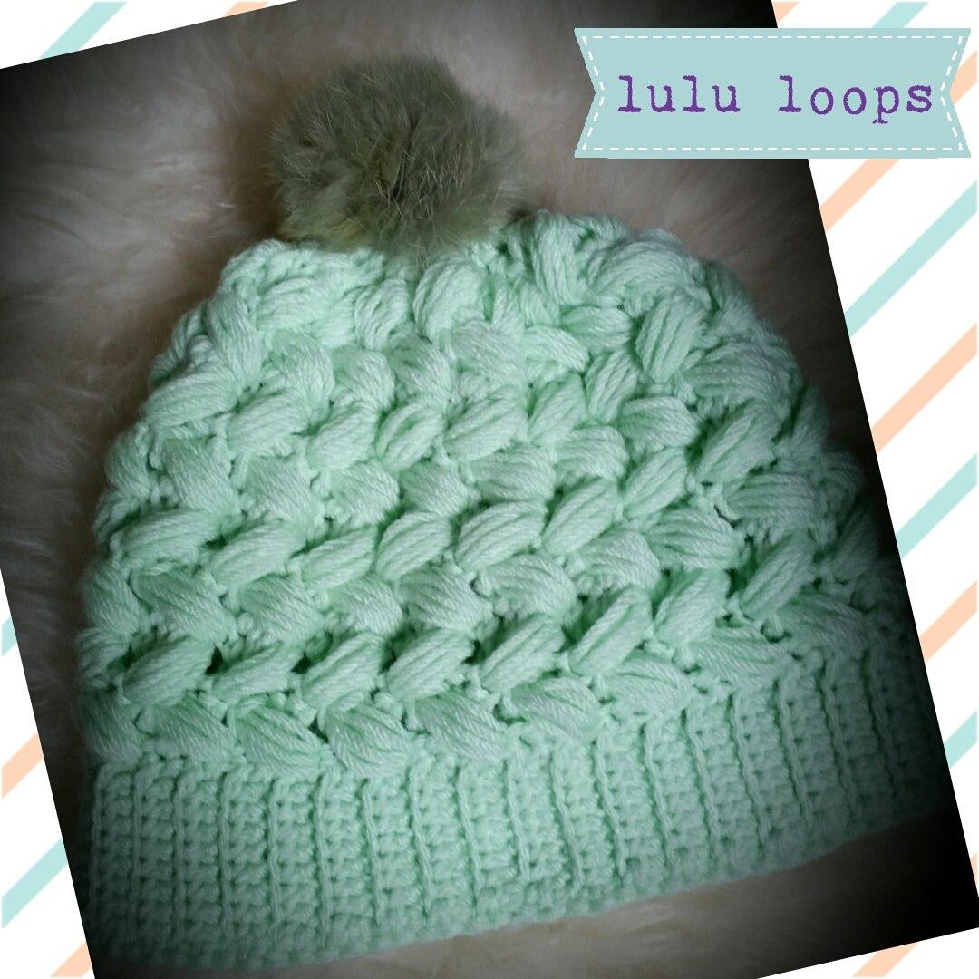 Lulu Loops - Crochet - Gorro - Modelo Puff - $ 270,00 en Mercado Libre