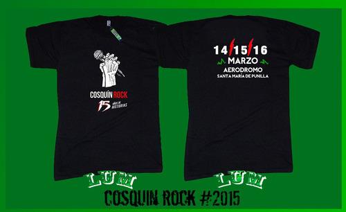 lum - remeras cosquin rock todos los años - algodon 1ª cal