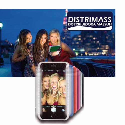 lumee case selfie flash recargable para iphone y samsung