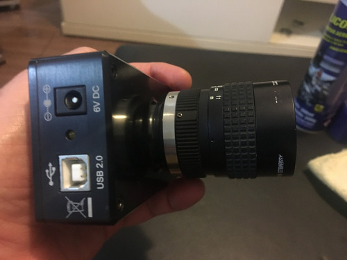 lumenera câmera inspeção lu175m monocromática + lente pentax