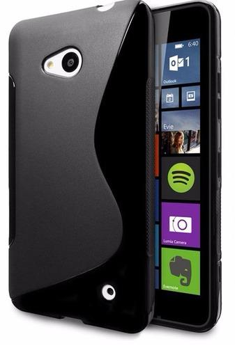 lumia 640 lte - cristal templado 9h antishock con dual case