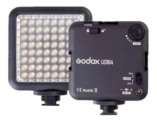luminador led godox led64 panel de luz 5600k ideal video