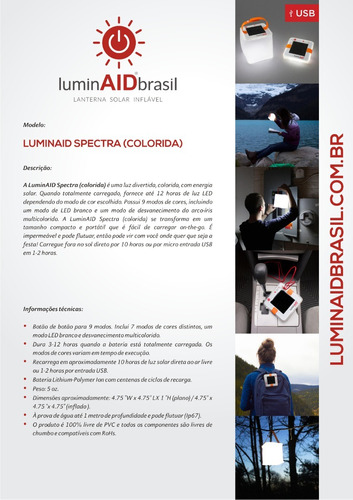 luminaid colorida - representante autorizado no brasil