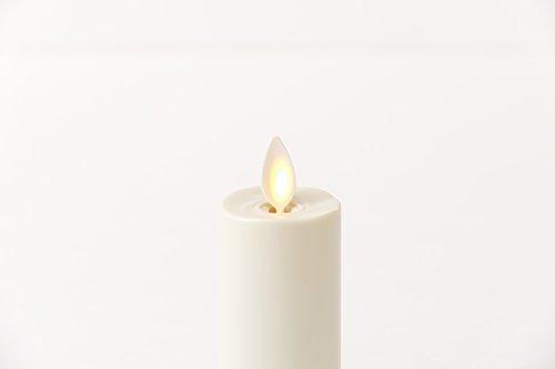 luminara vela votiva conjunto de 2 marfil en movimiento wic