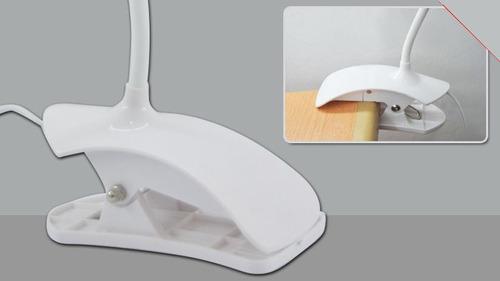 luminária 14 led flexível botão usb
