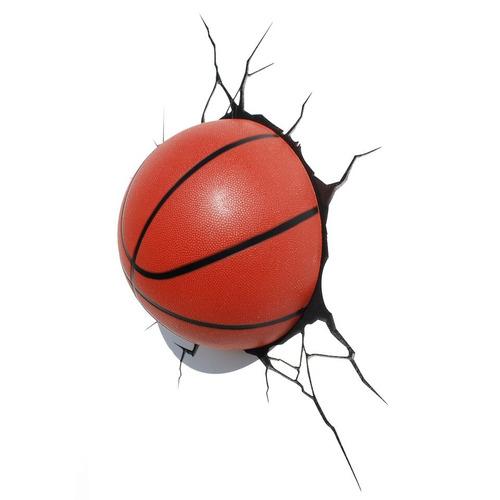 luminária 3d light fx bola de basquete