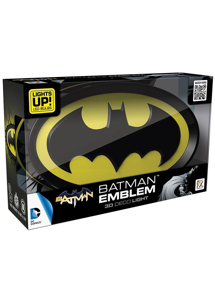 e86127d6b6 Luminária 3d Light Fx Logo Dc Batman - R$ 249,90 em Mercado Livre