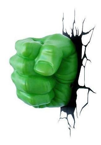 Luminaria 3d Mao Do Hulk R 199 99 Em Mercado Livre