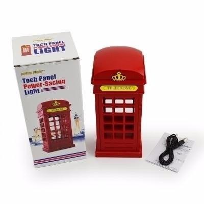 luminaria abajour cabine telefonica londres por toque !!!