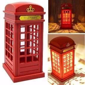 luminária abajour led cabine telefônica londres