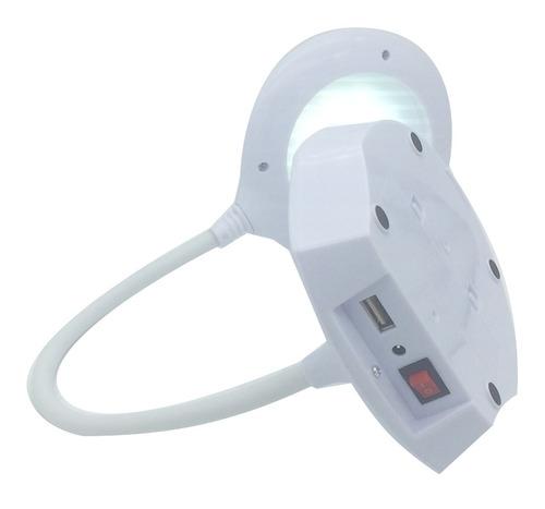luminária  abajour para leitura  3 intensidade c/ power bank