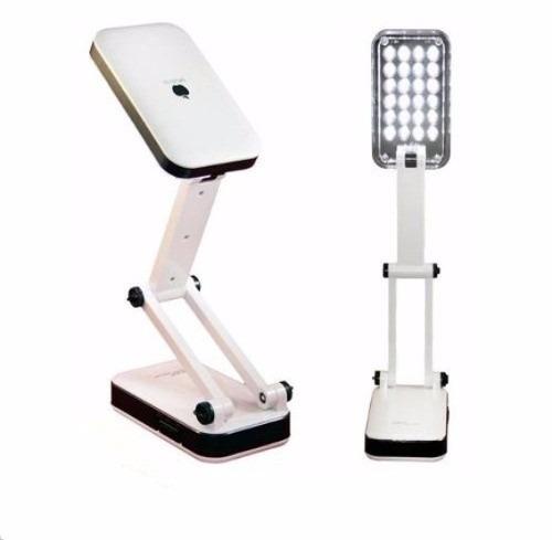 luminária abajur de mesa 24 leds - dobrável - recarregavel