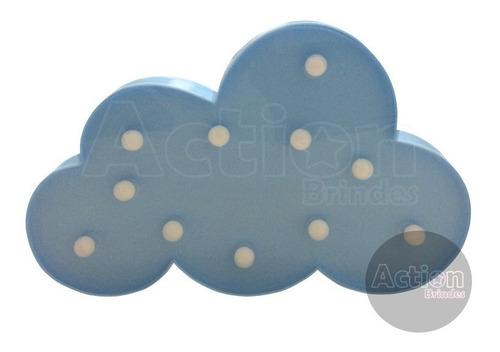 luminária abajur nuvem de led decoração