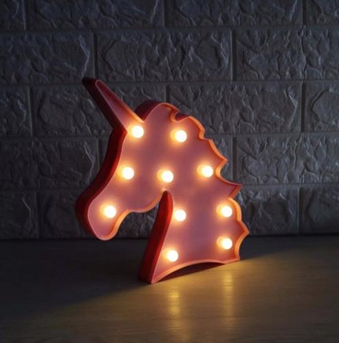 luminária abajur unicórnio com led mesa e parede decoração