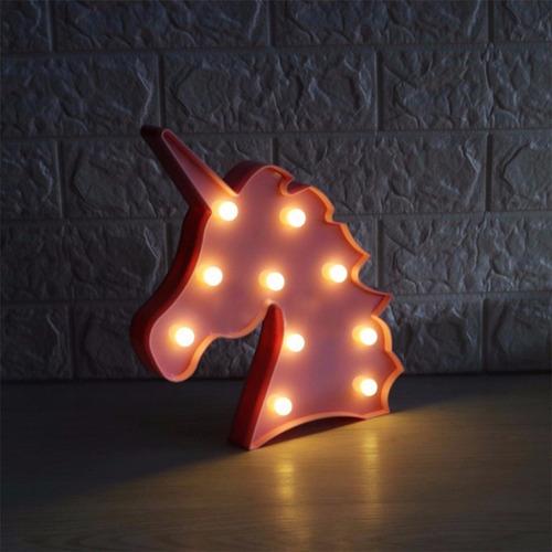luminária abajur unicórnio luz led parede frete grátis