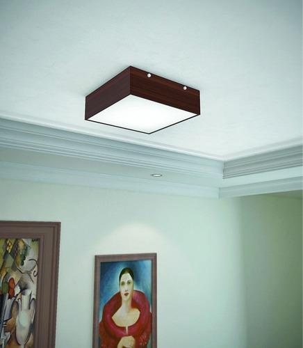 luminária acrílico plafon madeira guaratuba 30cm - 36.26