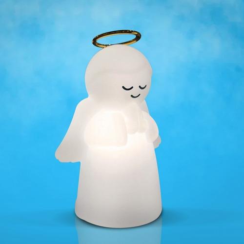 luminária anjo com aureola natural