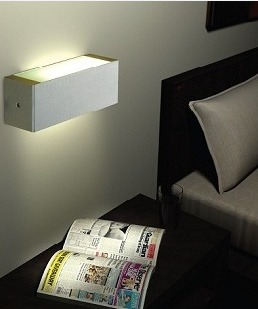 luminaria aplique pared aluminio e27 con led